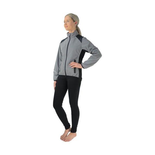 Silva flash reflective jacket by hy equestrian - reflective silver